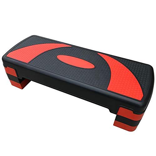 MxZas Aerobic Exercise Step Deck Aerobica per Pedale Fitness Sport Fitness Aerobica adeguata per la casa e la Palestra Fase di Esercizio (Color : Red, Size : 81x31x20cm)
