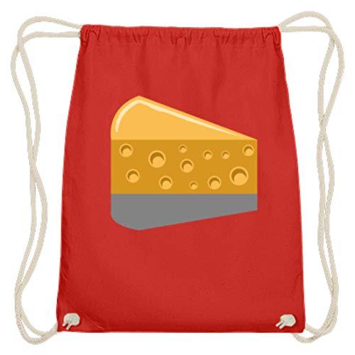 SPIRITSHIRTSHOP Käse - Cheese, Maus, Milch, Käsesorten, Essen, Milchprodukte, Ernährung, Nahrungsmittel - Baumwoll Gymsac -37cm-46cm-Hellrot