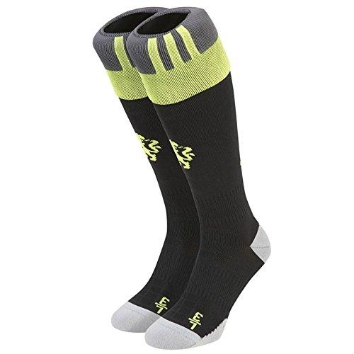 adidas CFC A Sock Calcetines, Hombre, Negro/Amarillo/Rojo, 3