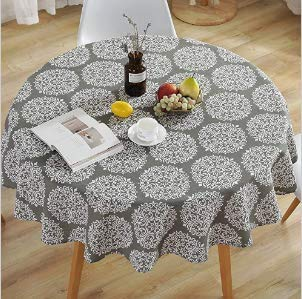 Round Tablecloth Simple Round Cotton Linen Fabric Nordic Style...