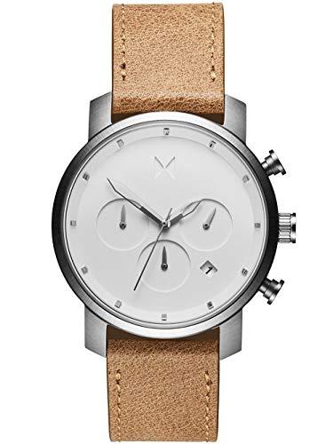MVMT Herren Chronograph Quarz Uhr mit Leder Armband D-MC02-WT