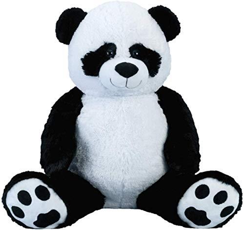 Reuzenpanda beer knuffel XXL 100 cm hoog pluche beer knuffel panda fluweelzacht - om van te houden