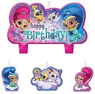 Shimmer and Shine Birthday Candles - Set of 4
