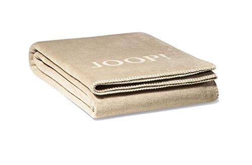 Joop! Wohndecke Uni-Doubleface - Sand-Pergament Größe: 150 x 200 cm