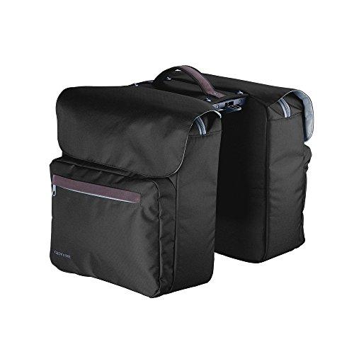 Racktime Unisex– Erwachsene Ture Gepäckträgertasche doppelt, schwarz, one Size