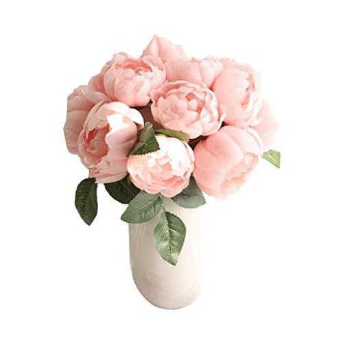 Kunstmatige bloem hortensia roze zijde hortensia ingemaakte boeket bruiloft decoratie natuurlijke valse bloem woonkamer keramische florale decoratie tafel bloemdecoratie