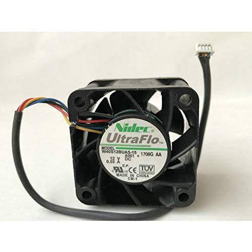 Cooling fan W40S12BUA5-15 40mm DC12V 0.55A 4-Wire Server Axial Fan
