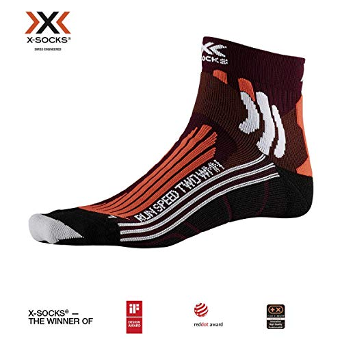 X-Socks Damen Run Speed Two Socks, Sunset Orange/Pearl Grey, 39-40
