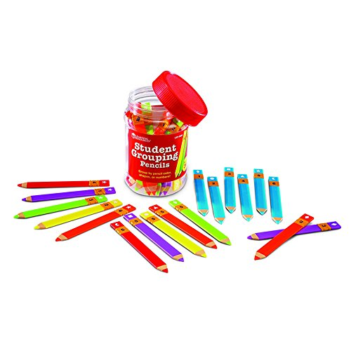 6 Pack LEARNING RESOURCES STUDENT GROUPING PENCILS SET OF 36