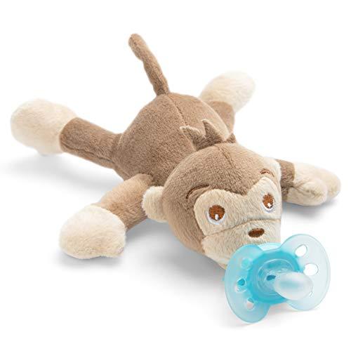 Philips Avent Snuggle Affe SCF348/12, gosedjur med napp ultramjuk, perfekt present till nyfödda och bebisar, snulldjur