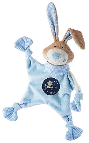 sigikid, Jungen, Schnuffeltuch, Hase mit Sternzeichen Wassermann, Blau, 48826
