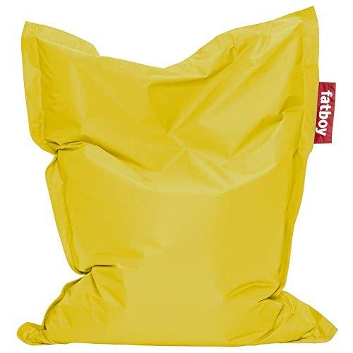 Fatboy® Junior gelb | Original Nylon-Sitzsack | Klassisches Indoor Sitzkissen speziell für Kinder | 130 x 100 cm