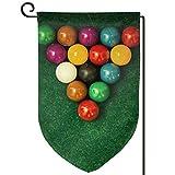 Auld-Shop Billar Bolas Paño Jardín Bandera Patio al Aire Libre Banderas Decorativas Doble Cara Precios para Todas Las Estaciones y días Festivos