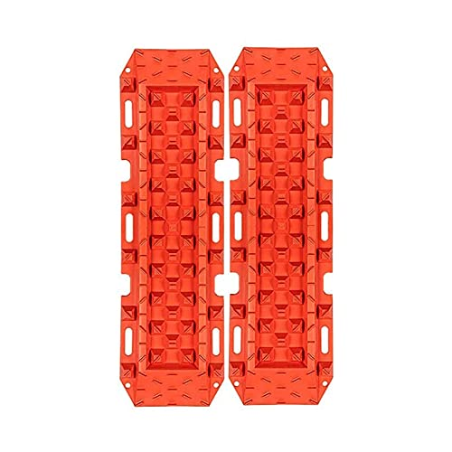 ERJIANG 2Pc Traction Boards 10t Escape Recovery Track Off Road Grip Winter Boards Sand, (Orange), (Color : Orange)