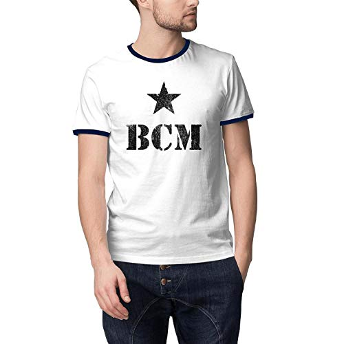 smsdpmc Baylor-College-of-Medicine-Logo- Men's Casual Cotton T-Shirt Personalised Short Sleeve O Neck Tee Shirt