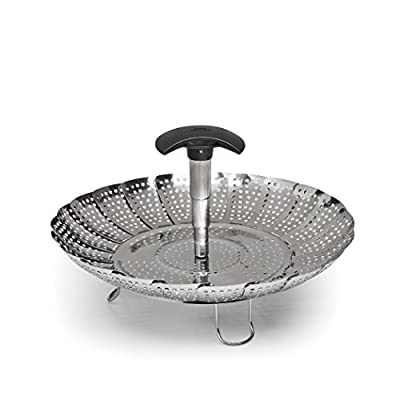 """OXO Stainless Steel Good Grips Steamer with Extendable Handle, 7"""""""