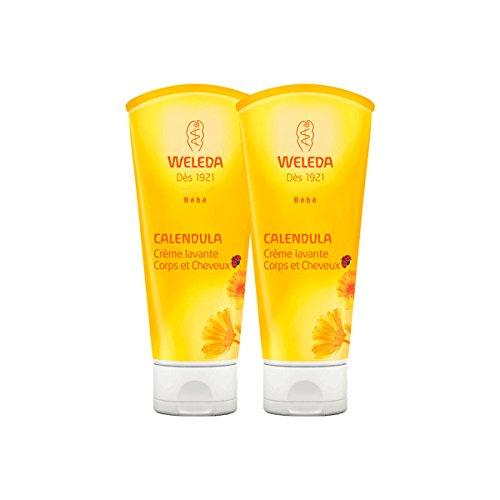 Weleda - Crème lavante - Corps et Cheveux - Calendula - Lot de 2