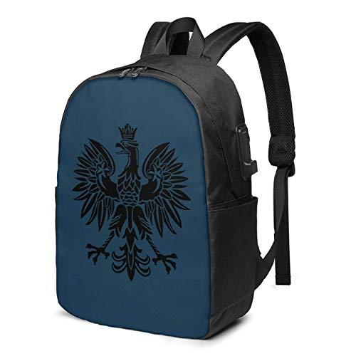 AOOEDM USB Backpack 17 in Polnischer Polska WPS USB-Rucksack Handgepäckbeutel 17 im Laptop-Rucksack für das Geschäft mit Reiseschulen