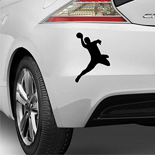 myrockshirt Handballer im Sprung Wurf Handball 20cm Aufkleber Autoaufkleber Sticker Decal UV&Waschanlagenfest Profi Qualität