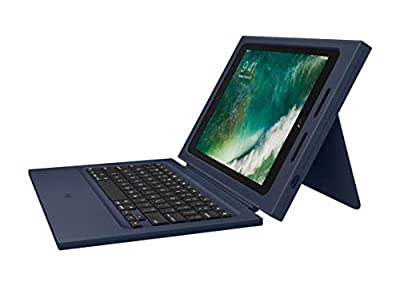 Logitech Rugged Protection Combo Keyboard and Folio Case for iPad 9.7 (5th Gen) / (6th Gen) - Bulk Packaging - Navy Blue