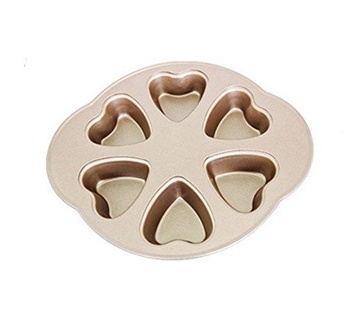 en Forme de Coeur Non-bâton en Acier Au Carbone Moule À Gâteau Four Maison DIY Épaississement 6 Même Moule De Cuisson Gâteau Moule, 2
