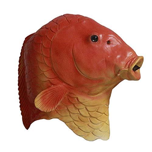 Hengyutoy Mask Mscara de pez Dorado para Adultos para la diversin Cosplay Party Theatre Show Prop Animal Masks