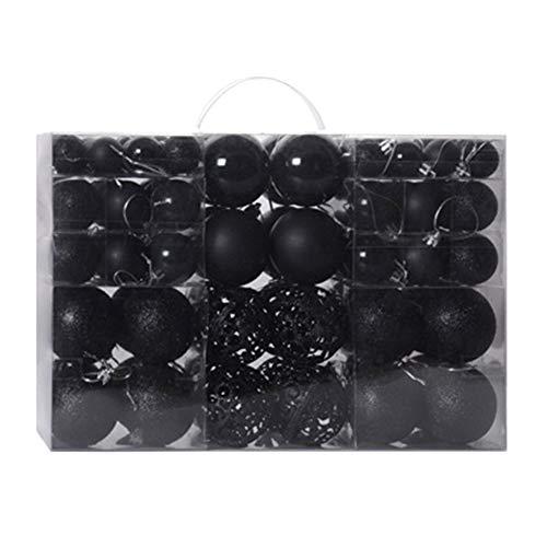 OUlike, Set di 100 palline decorative per albero di Natale, infrangibili, decorazioni per albero di Natale da appendere