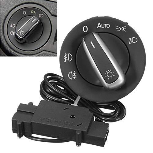 EUTEEWAL Auto Lichtschalter mit Chrom-Auto Sensor Licht für T5 Golf4 MK4 Bora Passat 5ND941431B