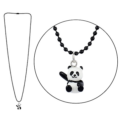 JOE COOL Necklace with A Pendant Hello Panda On A Ball Chain Made with Resin