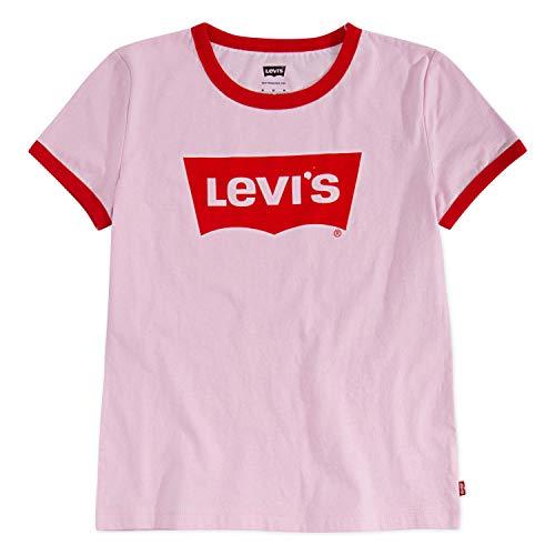 Pink Kids Ringer T-Shirt - 1