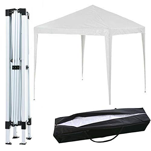 SK Store Garden Gazebo Outdoor Waterproof Beach Party Festival Camping Tent Canopy Wedding Marquee Awning Shade, PVC coated, 3mx3mx2.5m, Carrying Bag, Beige