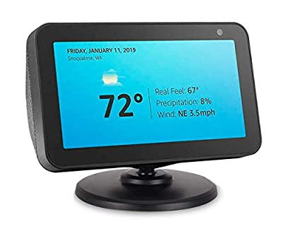 Stand for Echo Show 5, ELPHA Adjustable Stand Mount Accessories Compatible with Amazon Echo Show 5, Magnetic attachment,360 Degree Swivel, Tilt function, Anti-Slip Base, Black by ELPHA PRODUCTS COMPANY INC