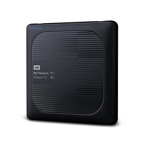 WD 4TB My Passport Wireless Pro Portable external Hard Drive - WiFi USB 3.0 - WDBSMT0040BBK-NESN