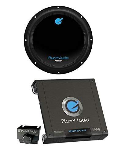 Planet Audio AC10D 10' 1500W Car Audio Subwoofer + AC15001M 1500W MONO Amplifier