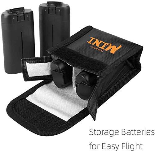 RC GearPro Explosionproof Brandwerende Batterij Veilige Tas Draagbare Buidelzak LiPo Batterij Tas voor DJI Mavic Mini Drone, Medium, For 2 Batteries