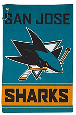 WinCraft San Jose Sharks Sport Towel with Metal Grommet and Hook, 16x25 inches