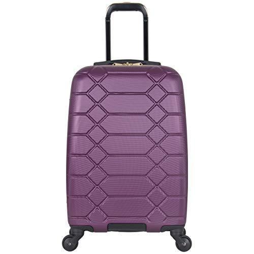 Aimee Kestenberg Diamond Anaconda Women's 20' Lightweight Hardside 4-Wheel Spinner Carry-On Suitcase, Plum