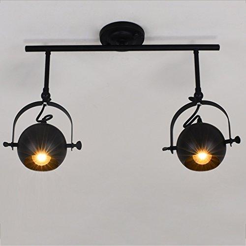 Scheinwerferlicht des amerikanischen Retro- industriellen Scheinwerfers kreative LED beleuchtet Bekleidungsgeschäftdeckenlampen Spotleuchten & Leuchtensysteme (Size : Double: 56 * 38 cm)