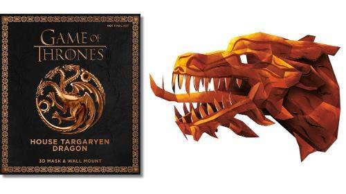 Game Of Thrones Mask. House Targaryen Dragon: 3D Mask & Wall Mount