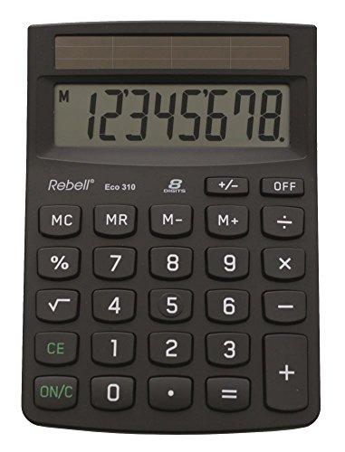 Rebell RE-ECO310 - Tischrechner, schwarz