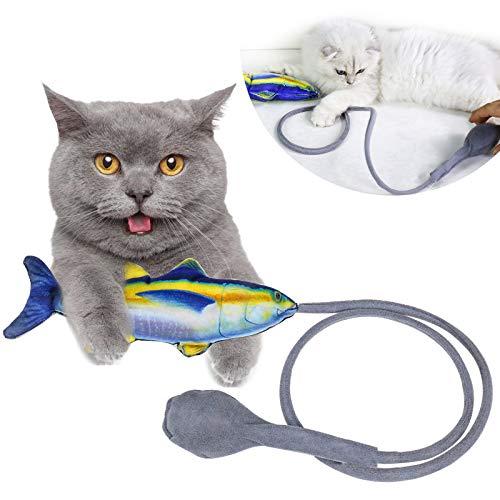 ORYCOOL Giocattoli per Gatti, Giocattoli interattivi per Gatti, Giocattoli per Pesci Simulati, Giocattoli di Erba gatta, per Far Giocare, mordere e calciare i Gatti