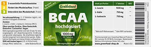 Greenfood BCAA, 1000mg, hochdosiert, 100 Tabletten - 2