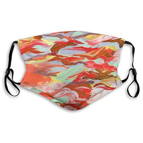 Bunte orange Rost rot mintgrün Wolken wirbelt Verstellbarer Mundschutz Mundschutz mit Staub Wiederverwendbarer Schutz Mundschutz Mit austauschbaren Filtern