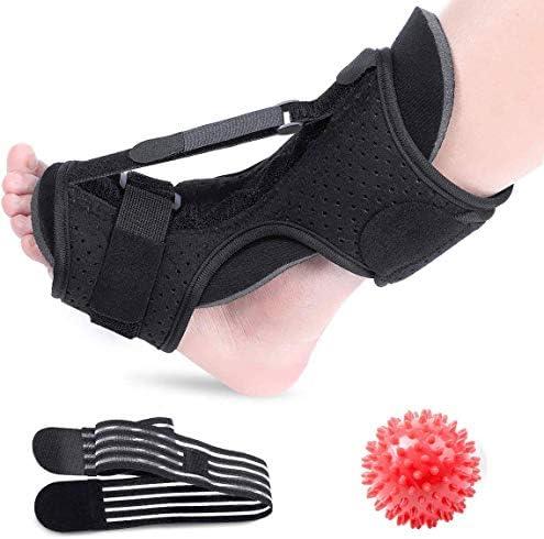 Plantar Fasciitis Night Splint Foot Drop Orthotic Brace Adjustable Elastic Dorsal Night Splint product image