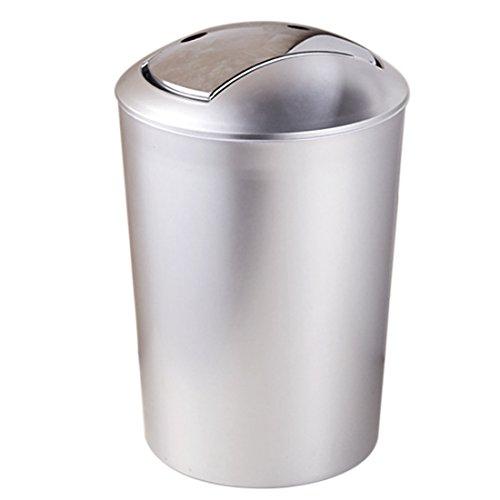 Tosbess 10L Abfalleimer mit Schwingdeckel - Mülleimer Abfallbehälter Papierkorb