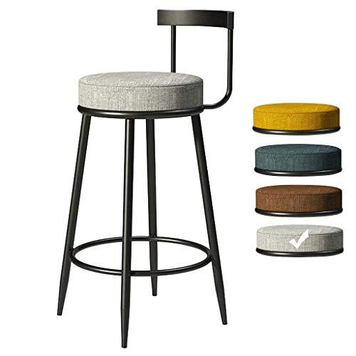 WSDSX Silla de Comedor, sillón tapizado con Brazos, Trona, Taburete Taburete de Bar Textil de Estilo Industrial con Respaldo Reposapiés Taburete Alto Silla de Comedor de Cocina FR &