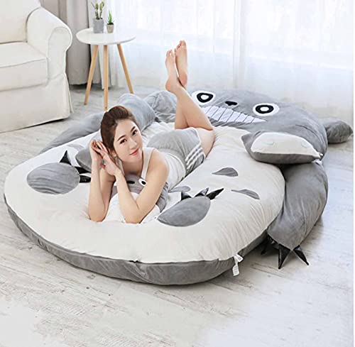 FBRNYQPM Colchón Tatami Totoro Sofá Colchón Tatami De La Alfombra De La Cama De Totoro Relleno Doble Individual para Regalo De Niños Y Adultos Plegable Cómodo y Transpirable,001,180 * 250