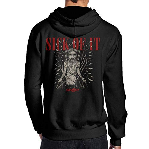 Gellya Hooded Sweatshirt Skillet Band Man's Hoodie Fashion Long Sleeve Pullover Sweatshirts Shirts