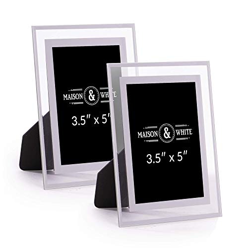 A4 Glass Photo Frames - Set of 2 | Home & Office Picture Frames |...