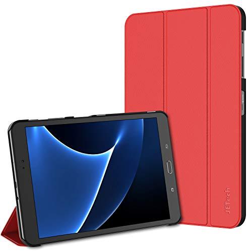 JETech Funda para Samsung Galaxy Tab A 10,1 2016 (SM-T580 / T585, No para el Modelo 2019) Carcasa con Soporte Función, Auto-Sueño/Estela, Rojo